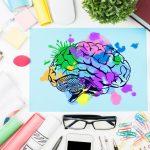 kahve, renkli beyin resmi