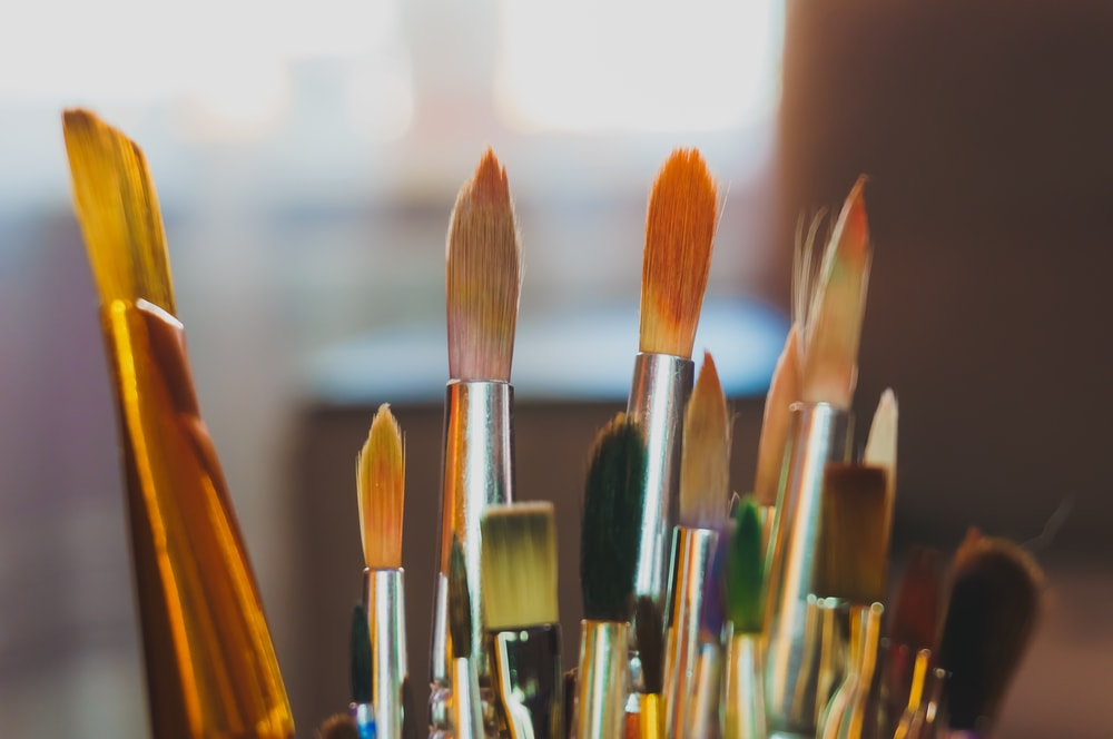 resim, resim yapma teknikleri, yağlı boya fırçası