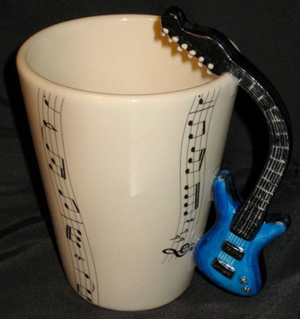 gitar müzik kahve fincanı, ilginç kahve fincanı modelleri