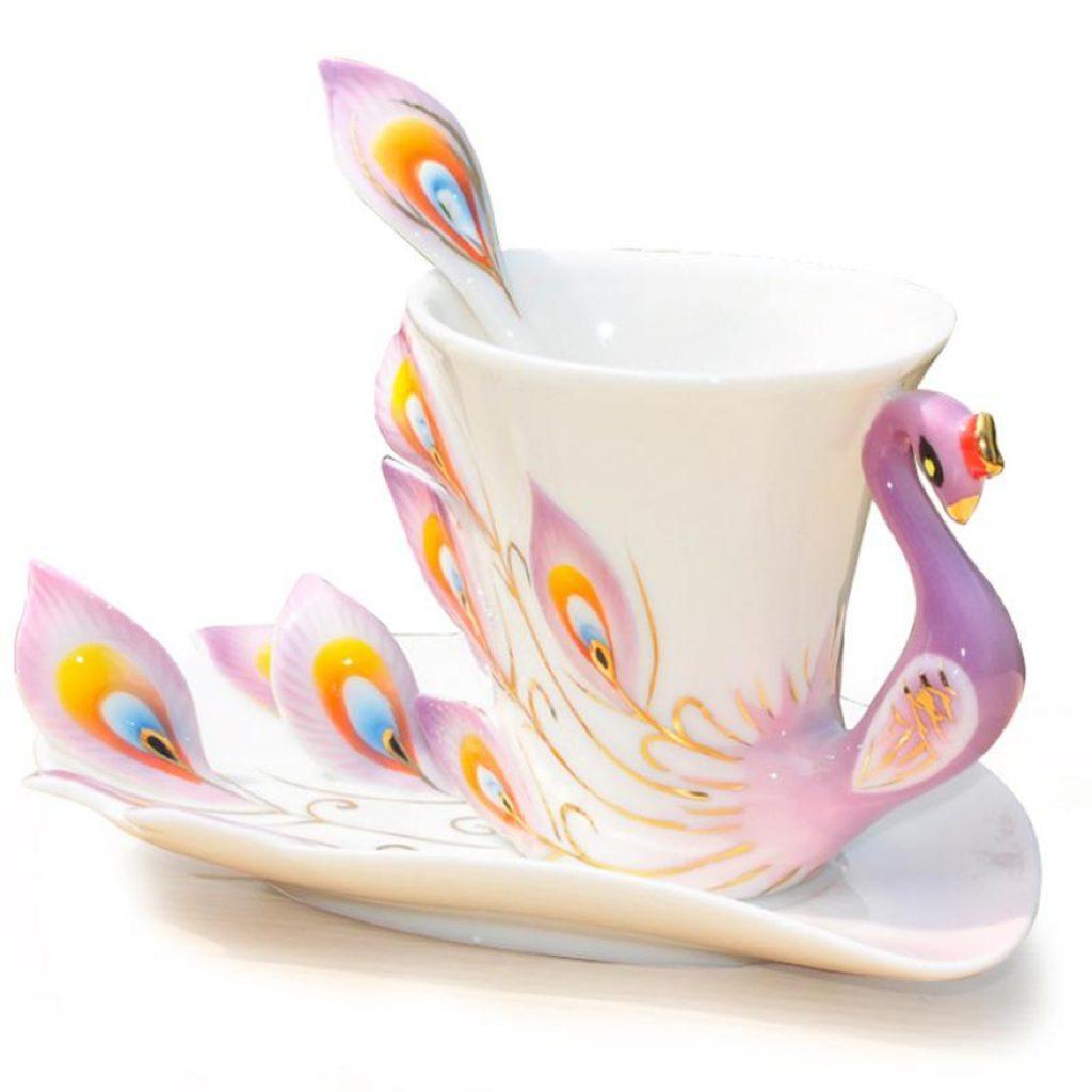 tavuskuşu kahve fincanı, ilginç kahve fincanı modelleri
